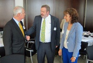 L-R: James Bacchus (ICC and Greenberg Traurig), William Craft (U.S. State Department) and Norine Kennedy (USCIB)