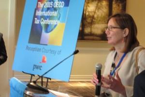 Carol Doran Klein (USCIB) at the 2015 OECD International Tax Conference.