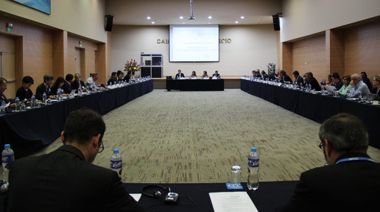 Government and Private Sector Participants at a Major Economies Business Forum (BizMEF) side-event during the COP-20 Lima Conference.