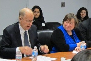 L - R: Joe Schoonmaker (NYDEC) and Catherine Novelli (U.S. Department of State)