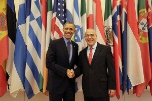 L-R: President Barack Obama and OECD Secretary General Angel Gurria (Photo credit: OECD)