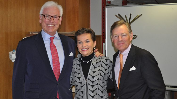 L-R: John Danilovich (ICC), Christiana Figueres (the UN Framework Convention on Climate Change) and Terry McGraw (ICC).