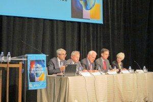L-R: Pascal Saint-Amans (OECD), Robert Stack (U.S. Treasury), Marty Sullivan (Tax Analysts), Will Morris (BIAC), Pam Olson (PwC)