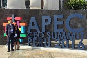 USCIB's Peter Robinson and Helen Medina in Lima