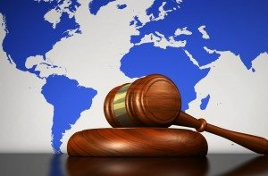 International Law And Human Rights Concept